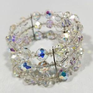 Vintage custom jewelry bracelet crystal